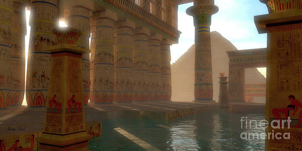 Wall Art - Digital Art - Egyptian Bath by Corey Ford