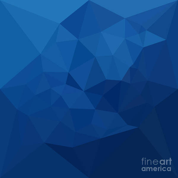 Wall Art - Digital Art - Egyptian Blue Abstract Low Polygon Background by Aloysius Patrimonio