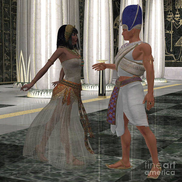 Outfit Digital Art - Egyptian Couple by Corey Ford