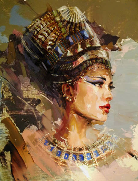 Egyptian Woman Painting - Egyptian Culture 11 by Maryam Mughal
