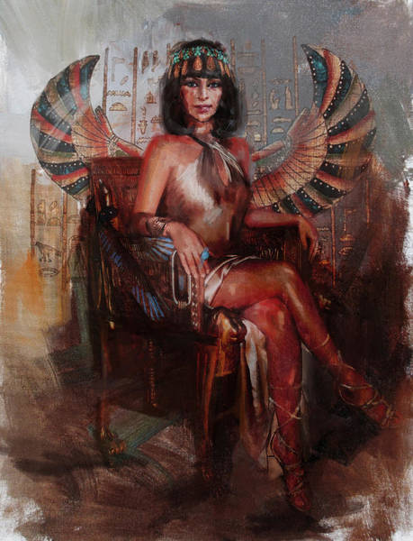 Egyptian Woman Painting - Egyptian Culture 13b by Maryam Mughal