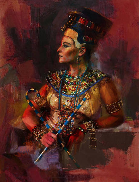 Egyptian Woman Painting - Egyptian Culture 15b by Maryam Mughal