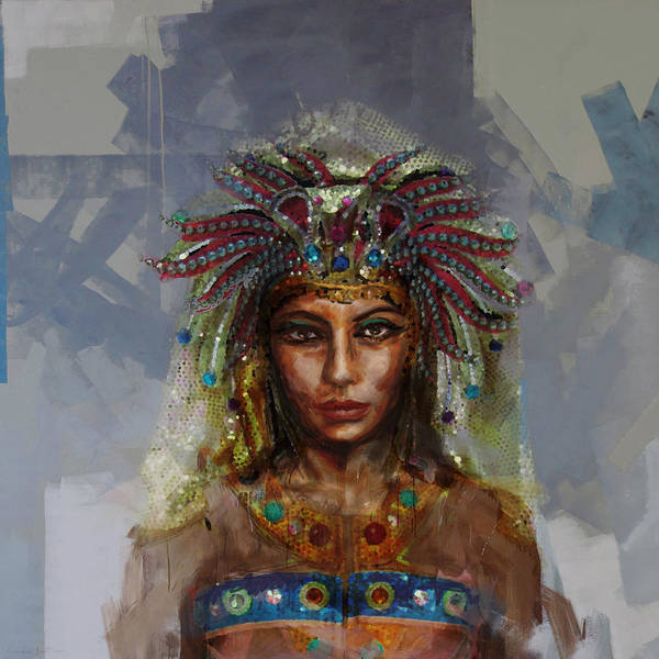 Egyptian Woman Painting - Egyptian Culture 19 by Mahnoor Shah