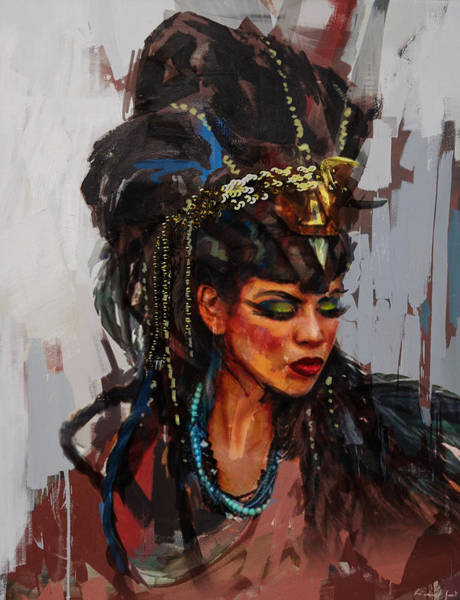 Egyptian Woman Painting - Egyptian Culture 26 by Maryam Mughal