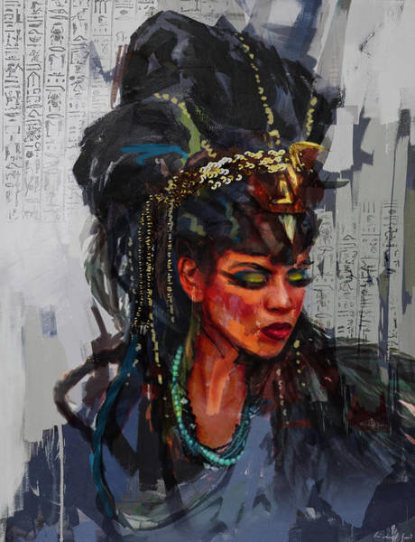 Egyptian Woman Painting - Egyptian Culture 26b by Maryam Mughal