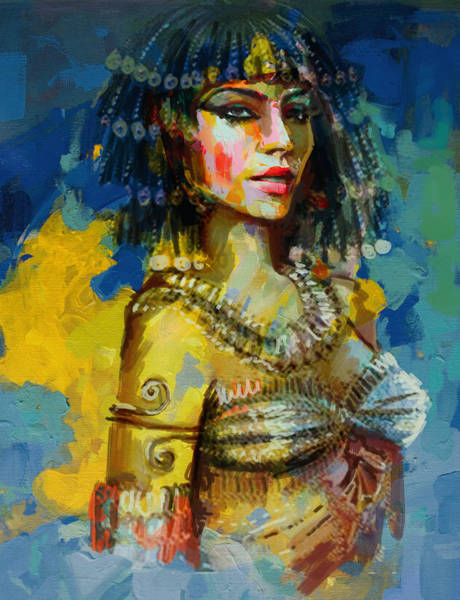Egyptian Woman Painting - Egyptian Culture 2b by Maryam Mughal