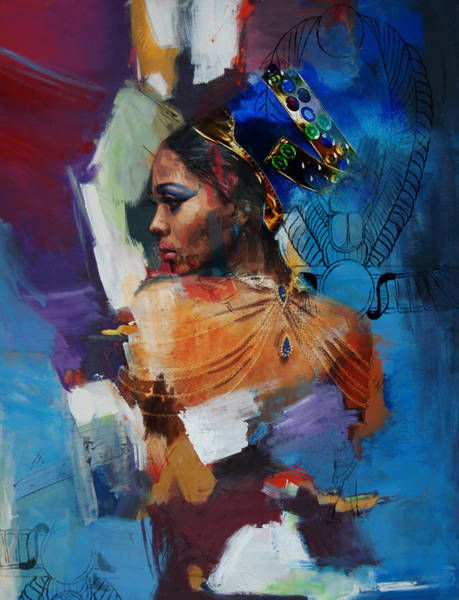 Egyptian Woman Painting - Egyptian Culture 33b by Mahnoor Shah