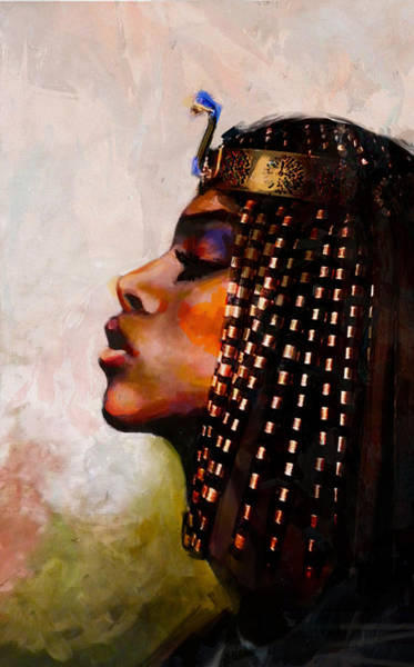African Women Painting - Egyptian Culture 39b by Maryam Mughal