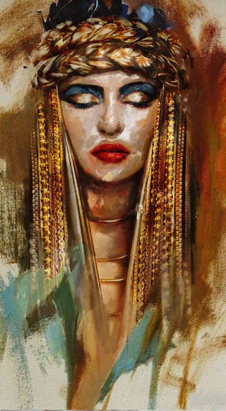 Egyptian Woman Painting - Egyptian Culture 4 by Mahnoor Shah