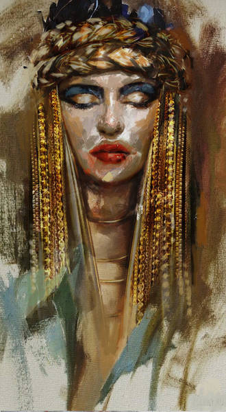 Egyptian Woman Painting - Egyptian Culture 4b by Mahnoor Shah