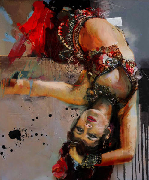 Belly Dancing Painting - Egyptian Culture 84 by Mahnoor Shah