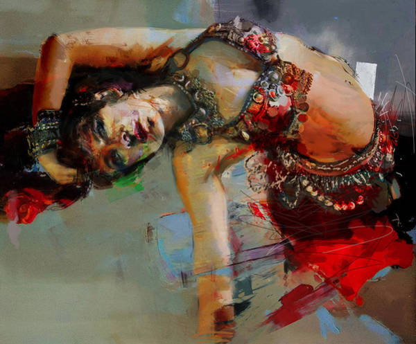 Belly Dancing Painting - Egyptian Culture 84c by Mahnoor Shah