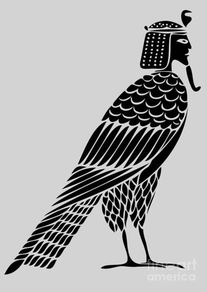 Wall Art - Digital Art - Egyptian Demon - Bird Of Souls by Michal Boubin