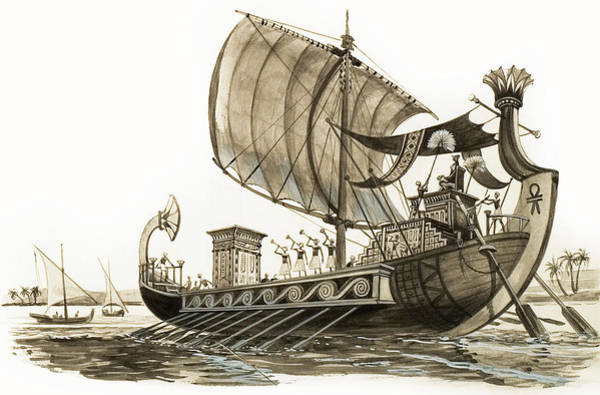 Pharaoh Painting - Egyptian Galley by Peter Jackson