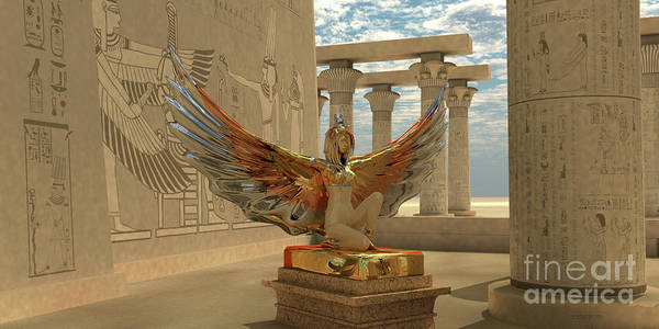 Wall Art - Digital Art - Egyptian God Isis by Corey Ford
