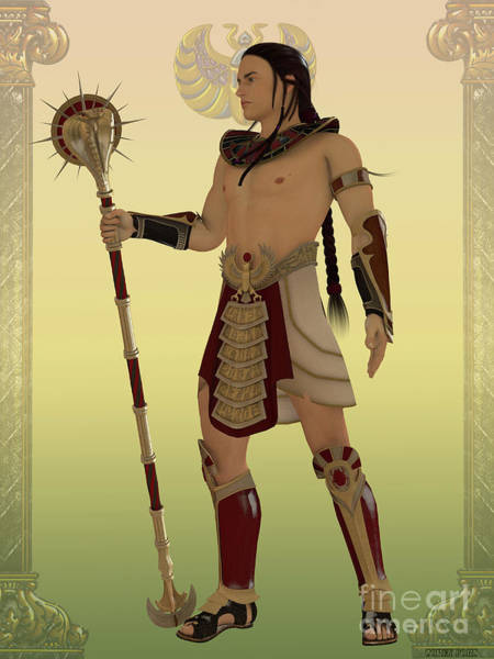 Kingship Wall Art - Painting - Egyptian Guard by Corey Ford