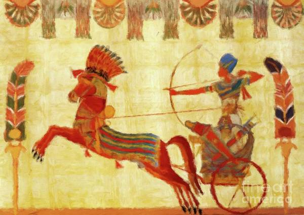 Wall Art - Painting - Egyptian Majesty by Sarah Kirk