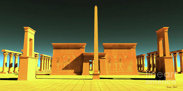 Wall Art - Digital Art - Egyptian Pharaonic Temple by Corey Ford