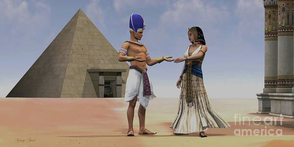 Kingship Wall Art - Painting - Egyptian Queen Pharaoh Temple by Corey Ford