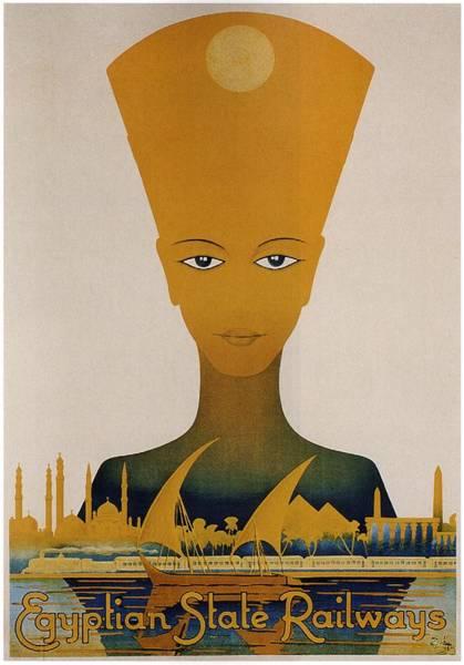 Kunst Painting - Egyptian State Railways - Vintage Travel Poster by Studio Grafiikka