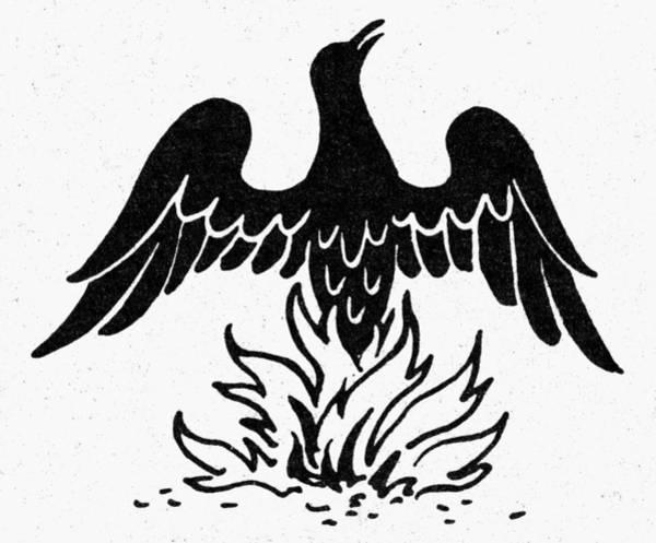 Photograph - Egyptian Symbol: Phoenix by Granger
