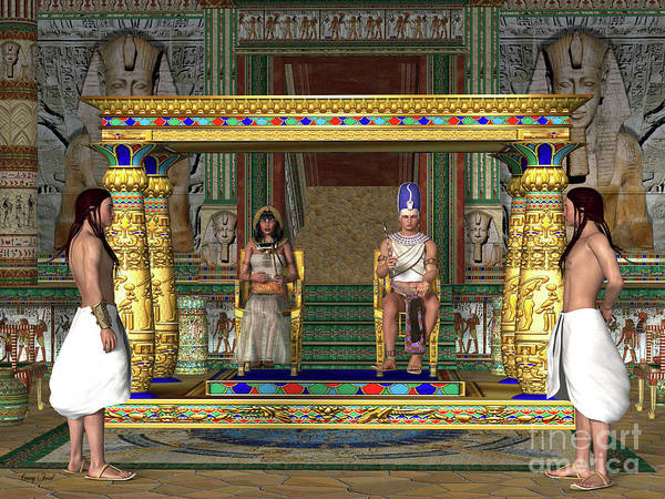 Wall Art - Digital Art - Egyptian Throne Room by Corey Ford