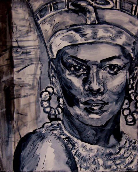 Wall Art - Painting - Egypt's Spell Queen Nefertiti by Laura Heggestad