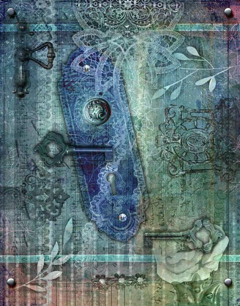 Apparition Digital Art - Eidolon Blue by Linda Carruth