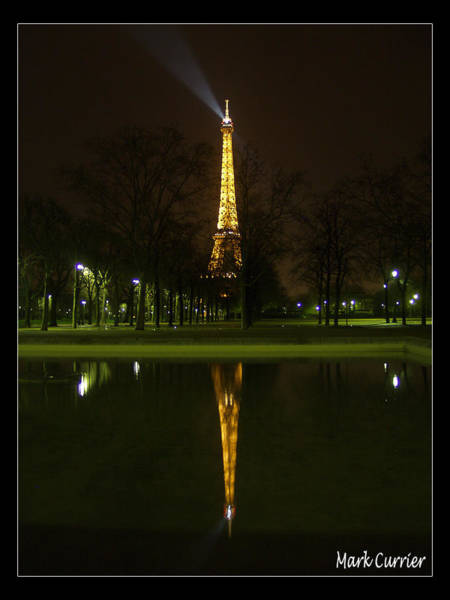 Photograph - Eiffel Reflection by Mark Currier