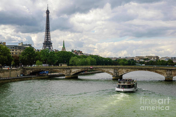 Photograph - Eiffel Tower And The River Seine by Paul Warburton