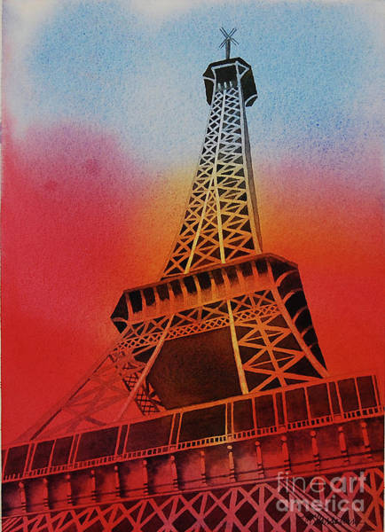 Wall Art - Painting - Eiffel Tower by Annette McGarrahan
