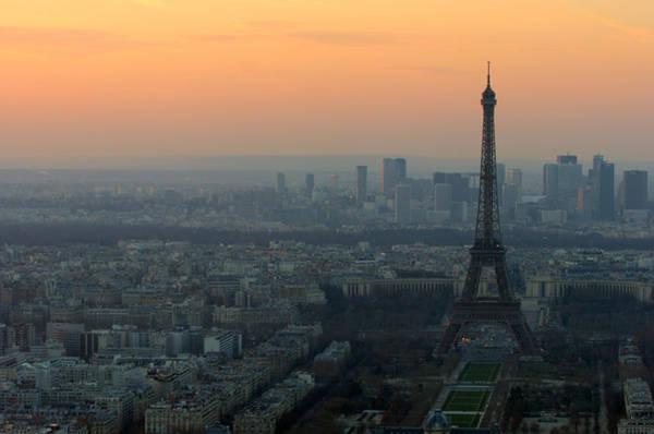 Photograph - Eiffel Tower At Dusk by Sebastian Musial