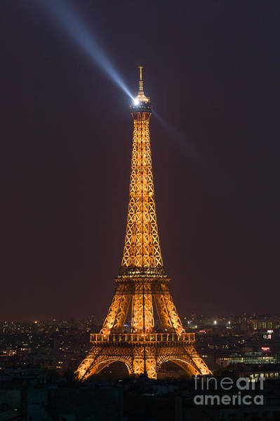 Photograph - Eiffel Tower At Night by Clarence Holmes