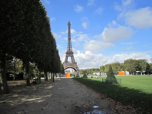 Photograph - Eiffel Tower Autumn Leaves Paris France by John Shiron