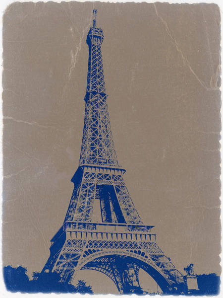 Cities Photograph - Eiffel Tower Blue by Naxart Studio