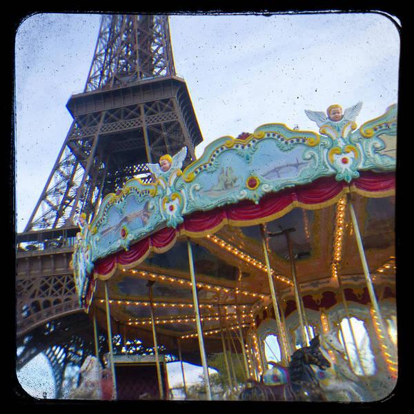 Wall Art - Photograph - Eiffel Tower Carousel Ttv by Melanie Alexandra Price