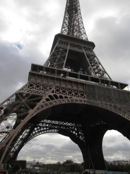 Photograph - Eiffel Tower Clouds II Paris France by John Shiron