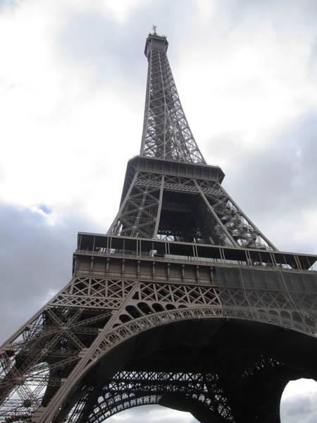 Photograph - Eiffel Tower Clouds IIi Paris France by John Shiron