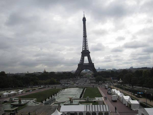 Photograph - Eiffel Tower Clouds Ix Paris France by John Shiron