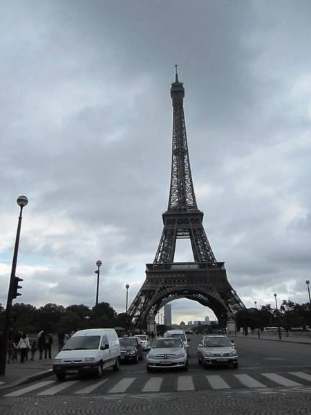 Photograph - Eiffel Tower Clouds V Paris France by John Shiron