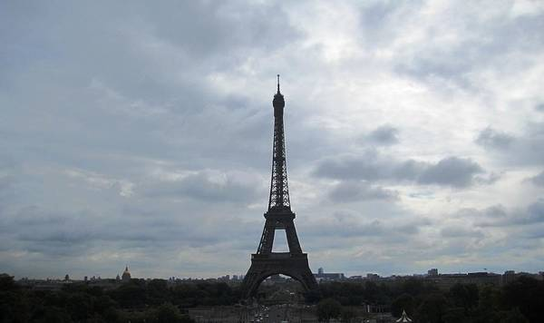 Photograph - Eiffel Tower Clouds Vii Paris France by John Shiron