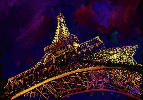Painting - Eiffel Tower by DC Langer
