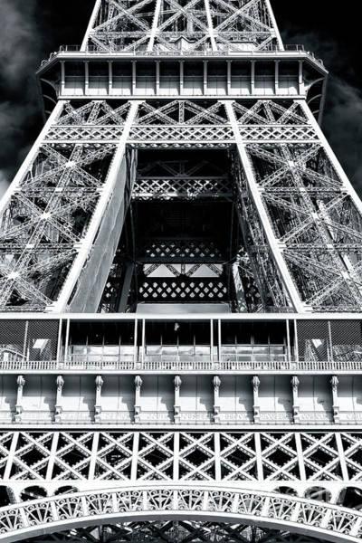 La Tour Eiffel Photograph - Eiffel Tower Details Paris by John Rizzuto