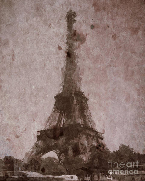 Photograph - Eiffel Tower Digital Painting by Andrea Anderegg