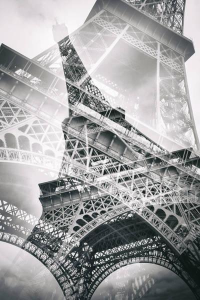 La Tour Eiffel Photograph - Eiffel Tower Double Exposure by Melanie Viola