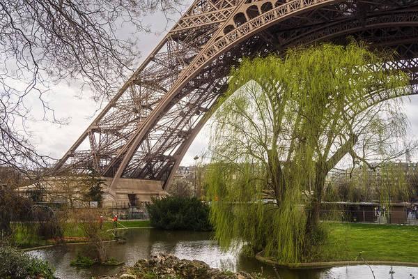 Photograph - Eiffel Tower Paris Footprint  by Joan Carroll