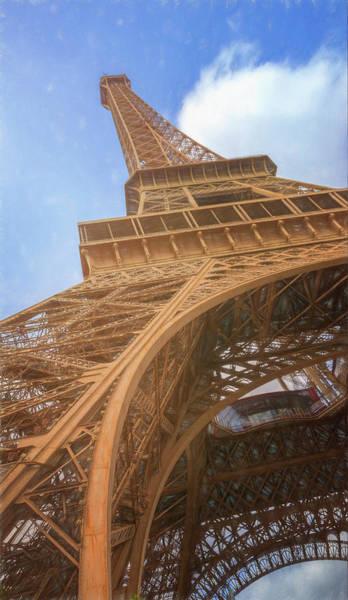 Photograph - Eiffel Tower From Below II Sketch by Joan Carroll