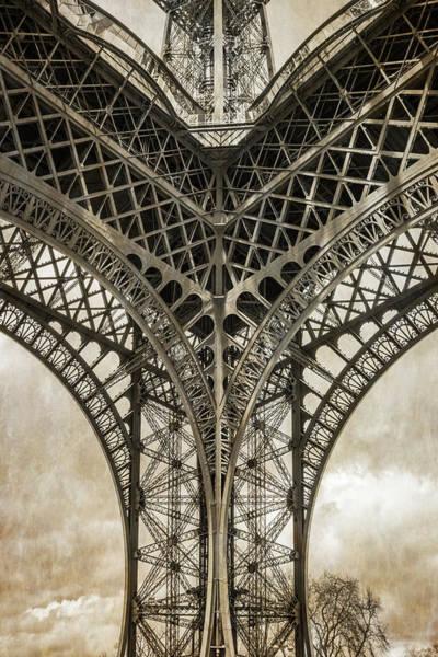 Photograph - Eiffel Tower From Below by Joan Carroll