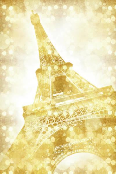 Wall Art - Photograph - Eiffel Tower - Golden Illusion by Melanie Viola