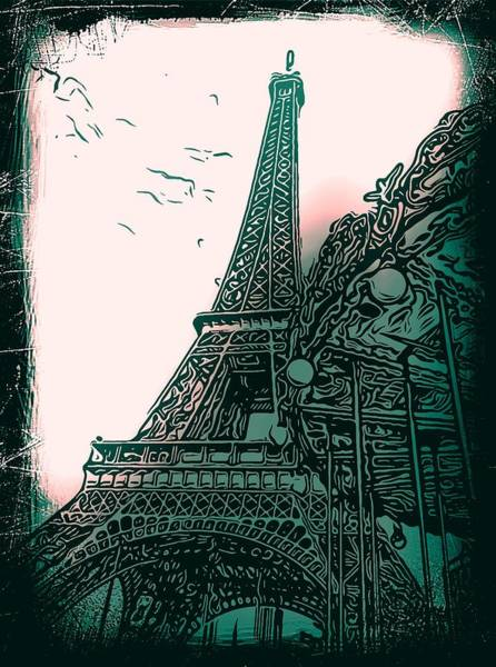 Ico Wall Art - Photograph - Eiffel Tower Green by Mark J Dunn
